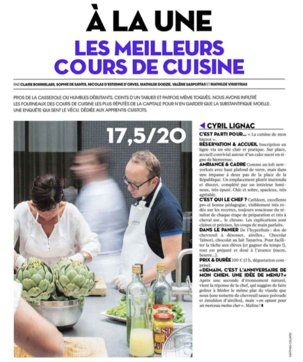 Category l atelier le blog de cyril lignac Cours de cuisine paris cyril lignac